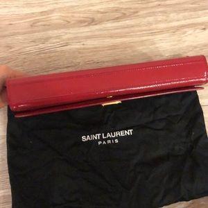 Saint Laurent Bags - Saint Laurent Cassandre Vernis Leather Clutch
